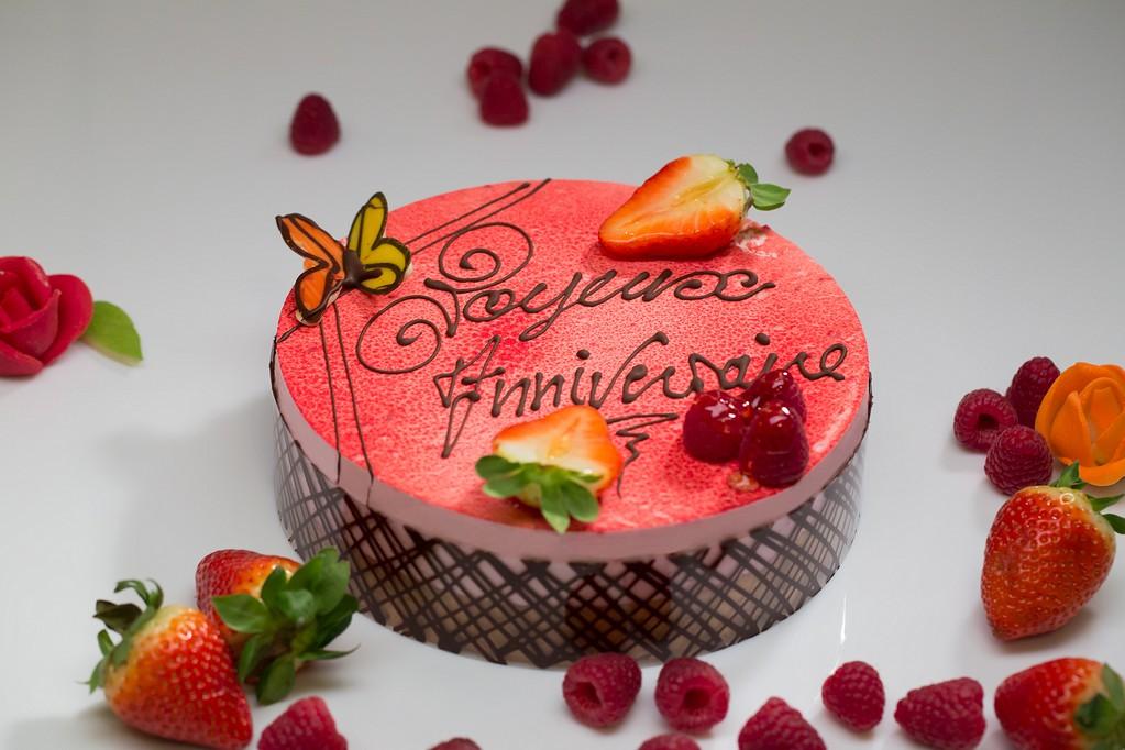 Entremet mousse fraise gâteau d'anniversaire et de mariage a Bouxwiller