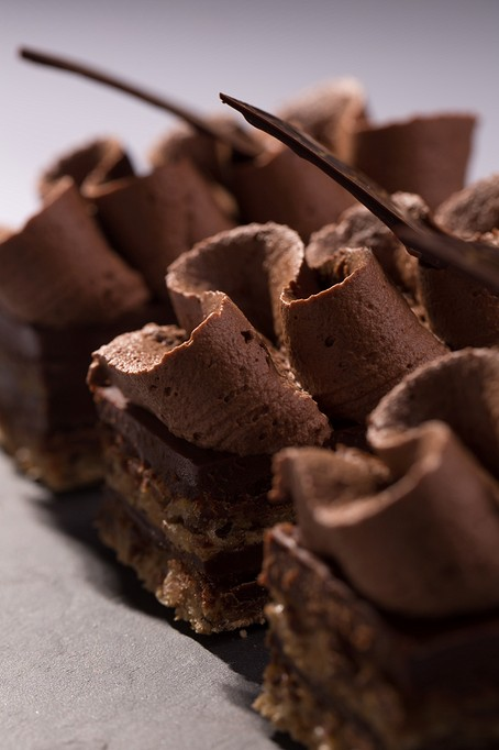 Marjolaine amandes noisettes ganache chocolat fait maison patisserie voegtling Bouxwiller